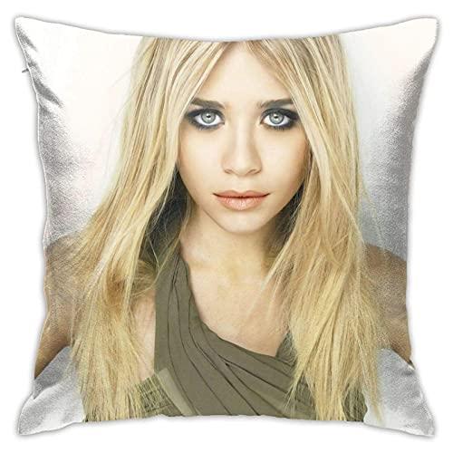 smartgood Ashley Olsen Kissenbezüge Standardgröße Quadratischer Kissenbezug Kissen Kissenbezug für Sofa Couch Dekor Dekorationen 45X45cm