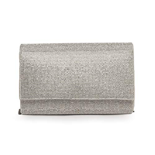 ALDO Women's Imnaha Evening Bag Clutch, Silver, One Size US
