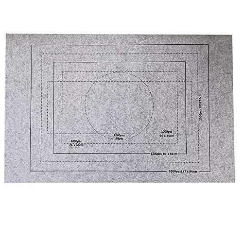 Celawork Puzzlematte für BIS 1500 2000 3000 Puzzle Teile Puzzle Pad Puzzleunterlage Puzzle Rollmatte Rollen Sie Puzzlematten für Puzzles auf (Nur Puzzlemat Grau, 3000PCS)