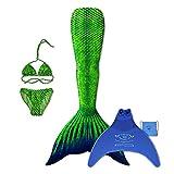 magictail Original Meerjungfrauenflossen zum Schwimmen für Kinder und Erwachsene mit Kostüm, Bikini, Flosse und Tasche Flash S