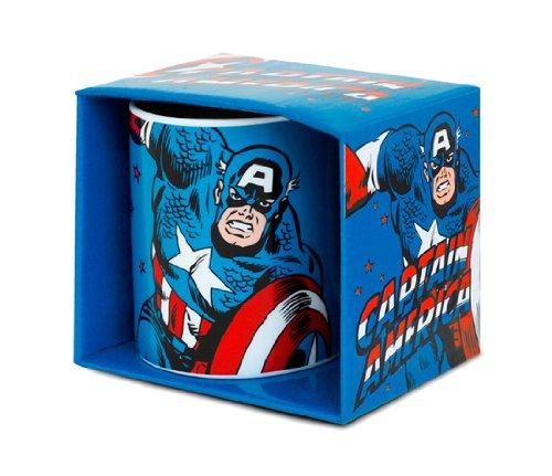 Logoshirt Marvel Comics - Captain America Porzellan Tasse - Kaffeebecher - blau - Lizenziertes Originaldesign