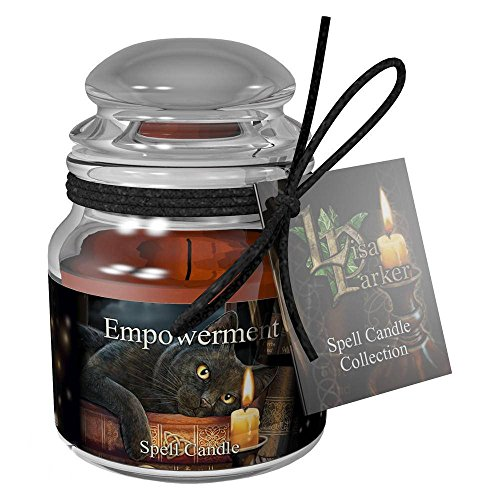 Empowerment Spell Candle - Patchouli scent featuring Witching Hour - cat by Lisa Parker by Lisa Parker