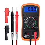 Digital Multimeter Portable Voltmeter Ammeter Ohmmeter with Test Leads...