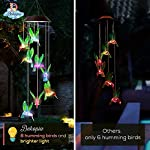 Dekopia Solar Wind Chimes 8 Hummingbird Outdoor Decor Color Changing Light Sensor Solar Power eco Friendly Easy to use… 4