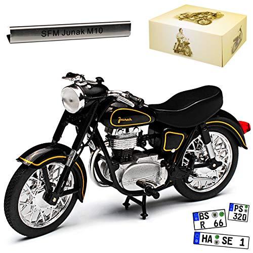 Atlas SFM Junak M10 Schwarz DDR 1/24 Modell Motorrad