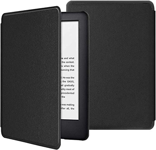 PUBAMALL Funda para Kindle (10ª generación - 2019), con la función Auto Sleep Wake, para Kindle 10th Gen 2019 Released (Negro)