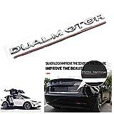 3D Dual Motor Decalcomanie Adesivo per stemma bagagliaio posteriore per auto Decalcomanie per Tesla Model 3, adesivo decorativo