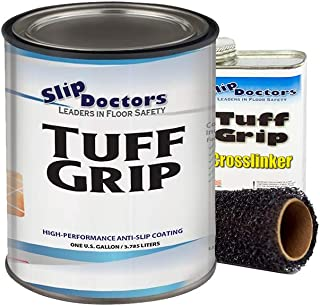 Slip Resistant Coating, Industrial Grade, Interior/Exterior, Fast Drying, Textured to Increase Traction. Tuff Grip (Safety Blue, Gallon Extreme Kit)