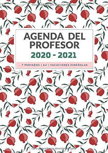 Agenda del Profesor: Cuaderno del Profesor y Planificador Semanal para Profesores y Maestras - Agenda para todo El Año Escolar - Flor de Granada (Profesora Agenda Escolar 2020-2021)