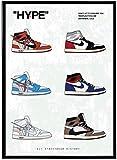 MKAN Hype Geschichte Sneaker Poster Hypebeast Poster Kicks