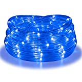 Rope Lights, 16Ft Waterproof Connectable Strip Lighting Blue, Indoor Outdoor Mood Lighting for Home Christmas Holiday Garden Patio Party Decoration