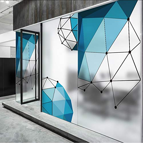 Djkaa Geometrische glas raamfolie sticker raamstickers Polyethyleen Huisdecoratie raamdecoratie glas in lood Statische Cling