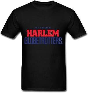 TOGEB The Original Harlem Globetrotters Logo Men's Short T-Shirt Young T-Shirts Black