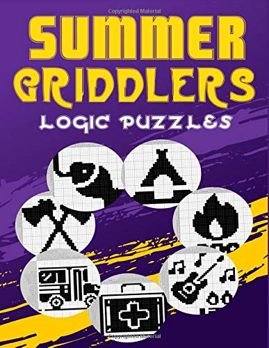 Summer Griddlers: Logic Puzzles Japanese Picross, Griddler, Paint By Numbers Or Hanjie Puzzle Books For Adults