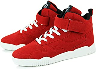 Yong Ding Men Solid Color Plate Shoes High Top Suede Trainers Casual Outdoor Sports Running Shoes Breathable Sneakers