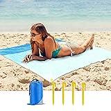 Mafiti Manta Impermeable de 210 x 200cm. Ideal para playa, Picnic, acampada o cualquier actividad al aire libre. Incluye 4 estacas para poder tensarla.