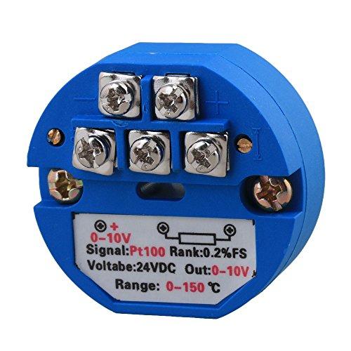 BQLZR Kunststoff Thermoelement Temperatursensor Messumformer PT100 0-150C 24VDC 0~10V