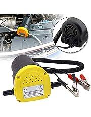 UISEBRT 12 V 60 W oljespump elektrisk – sugpump värmeoljepump dieselpump 250 l motorolja oljebyte
