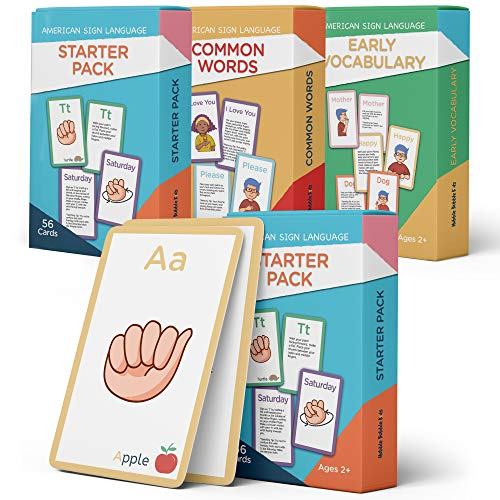 American Sign Language Flash Cards for Kids - 180 ASL Flashcards to Teach Your Baby, Toddler or Kid ASL