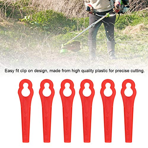 Fdit 40pcs Plastic Blade Set Replacement Blade for Cordless Grass Trimmer Strimmer