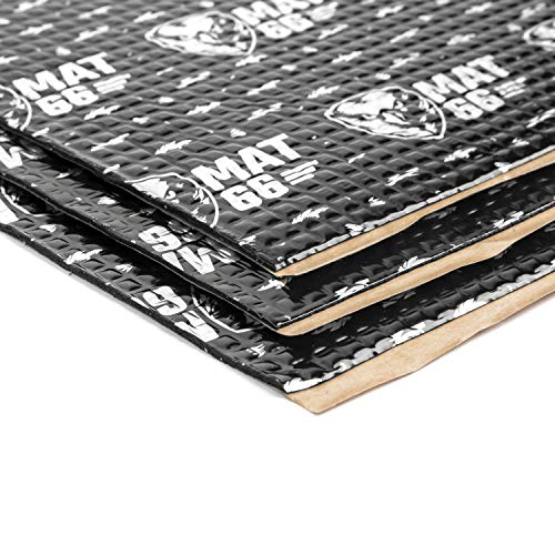MAT66 ProBlack 80 mil 36 sqft Car Sound Deadening Mat, Butyl Automotive Sound Deadener, Vehicle Audio Sound Insulation and Dampening Material