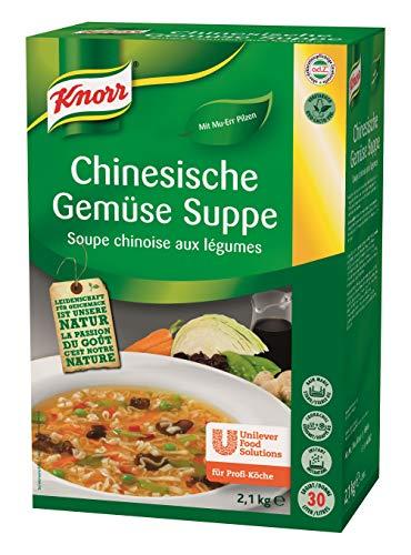 Knorr Chinesische Gemüse Suppe mit typischer Einlage (asiatischer, süß-sauer Geschmack) 1er Pack (1 x 2,1 kg)