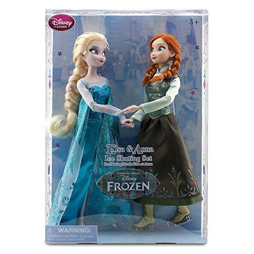 Original Disney - Frozen / Die Eiskönigin - Anna und Elsa Puppen mit Schlittschuhen Set