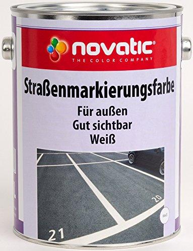 novatic Straßenmarkierungsfarbe CD08 - RAL9010 Reinweiss - 2,5ltr