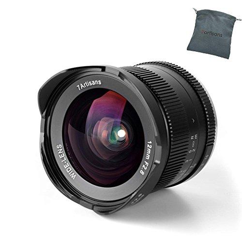 7artisans 12 mm f2.8 APS-C Weitwinkel manuell Fixiertes Objektiv für Fuji X Mount Camera Like X-A1 X-A10 X-A2 X-A3 X-at X-M1 XM2 X-T1 X-T10 X-T2 X-T20 X-Pro1 X-Pro2 X-E1 X-E2 X-E2s-Black