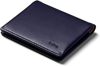 Bellroy Leather Slim Sleeve Wallet, Minimalist Front Pocket Wallet - Navy