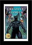 CreativePF [8x12bk-w] Collectors Art Comic Book Frame with White Mat, Insert for 6.6x10.1 Comic w/Easel Stand and Wall Hanger