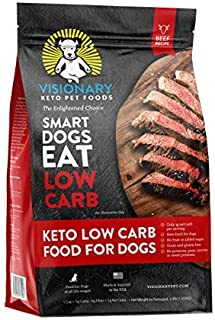 Visionary Pet - Keto Dog Food | Low Carb Kibble | High Protein | Natural Beef Flavor | Grain Free Dry Dog Food with Natura...