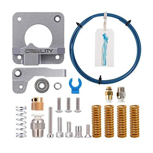 / Ajuste para Capricornio Bowden PTFE TUBING XS Series 1M + MK8 Gray Metal Extruser Kit + 4pcs Cama Caliente Springs Impresora 3D Piezas de Impresora
