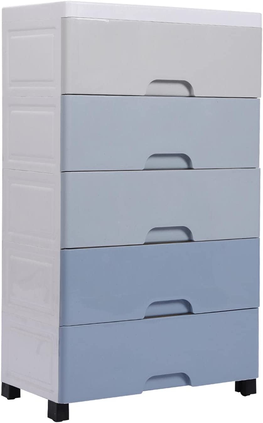 Youngnet Over item handling San Antonio Mall 5 Drawer Plastic Clothes - Unit with Organizer Drawers