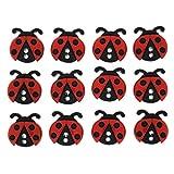 Tricot Créations Boutons Dress It Up : Sew Cute Ladybugs - Coccinelle Boutons 3D pour Décoration Mercerie Couture Album Scrapbooking et Décoration Gâteaux