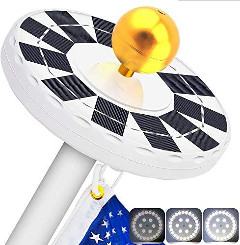 solar flag pole lights