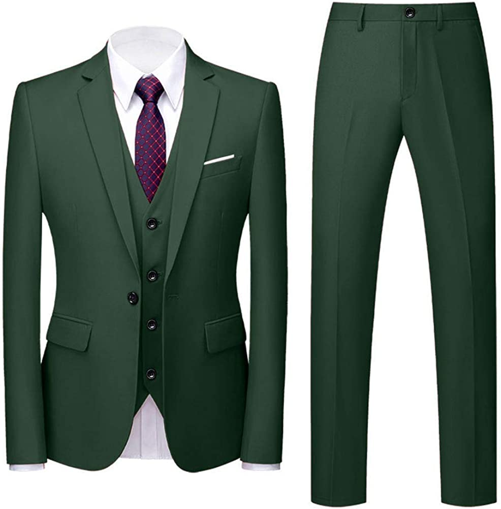 Wemaliyzd Mens 3 Piece Tuxedo Suit Fit Classic V Double Breasted Jacksonville Mall