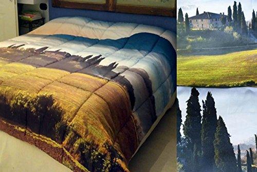 Marta Marzotto Piumone Trapunta Matrimoniale Paesaggio Toscana Casale Val d Orcia Campagna Verde, Matrimoniale