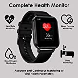V2A EVOC 1.78 inch High Resolution Full Touch IP68 Waterproof ECG Heart Rate Blood Pressure Oxygen Monitor Multi Sports Men's Women's Smartwatch for iPhone Samsung Android (Black)