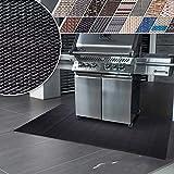 casa pura Grillmatte | Unterlage für Grill zum Schutz von Balkon und Terrasse | robuster + abwaschbarer Bodenschutz in 3 Größen - Padua 90x120 cm