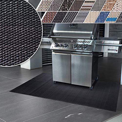 casa pura Tapis Extérieur Barbecue - Tapis de Cuisine | Tapis Terrasse PVC | Protection de Sol pour Terrasse, Balcon, Jardin | Ignifuge | Padua - 90x120 cm
