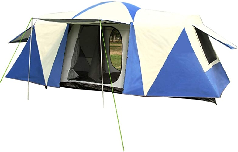 ZHAO YELONG Extérieure Double Couche Solaire Imperméable Trois Pièces 6-10 Personnes Tunnel Tente Tente Familiale Camping Tente Sac à Dos Tente