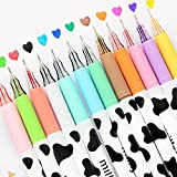 NYKKOLA Diamond Cute Gel Pen Milky Cow Pens,12PCS 0.35mm Extra-Fine Ballpoint Pen Perfect for Office School Supplies Gifts for Boys Girls(Milk 12 Pcs)