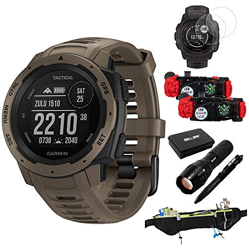 Why Should You Buy Garmin Instinct Tactical Outdoor GPS Smart Watch(010-02064-71) w/Accessories Bund...