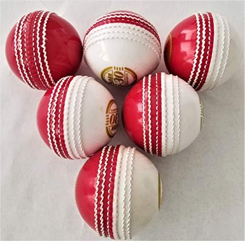 Incredible Cricketball '' Rot/Weiß (6 Bälle) hervorragende Trainingshilfe für alle Spieler
