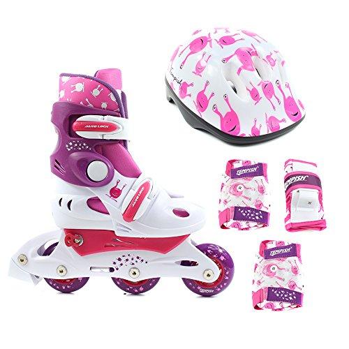 Kinder Inliner Set UFO Baby Skate Gr. M (34-37) + Schutzset + Helm