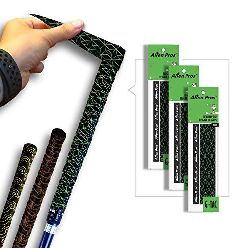 Alien Pros Golf Grip Wrapping Tapes (12 Stück) – Innovative Golfschläger-Griff-Lösung – Genießen Sie EIN frisches neues Gefühl in weniger als 1 Minute, schwarz