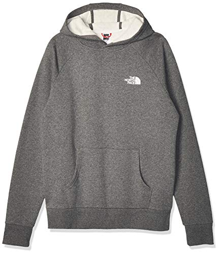 The North Face Uomo Felpa con Cappuccio Raglan Red Box Pullover, Grigio, M