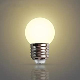 E27 Led Light Bulb,5w Led Golf Ball Bulb,600 Lumen 2700k Warm White ES Edison Screw Bulb, Non-dimmable, 180°Beam Angle, 85~220v (Pack of 2) [Energy Class A+]