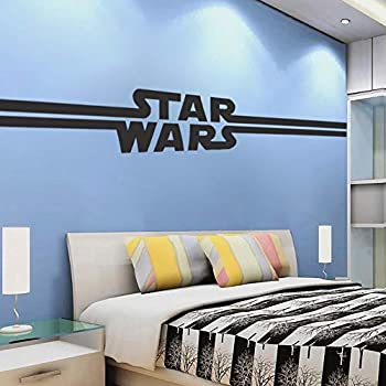 Star Wars Decor - Star Wars Logo Wall Decal Design Kids Room Wall Decor The Last Jedi Starwars Removable Bedroom Wallpaper Art Wall Mural a89